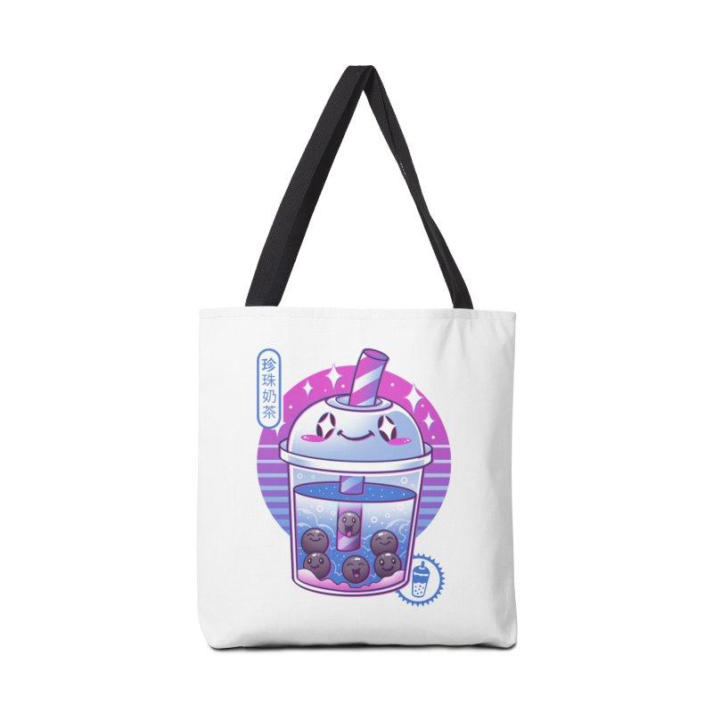 Boba Wave Tea Accessories Tote Bag Bag by Vincent Trinidad Art