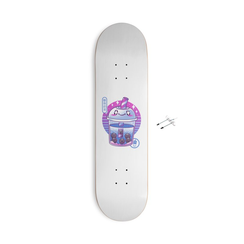 Boba Wave Tea Accessories With Hanging Hardware Skateboard by Vincent Trinidad Art