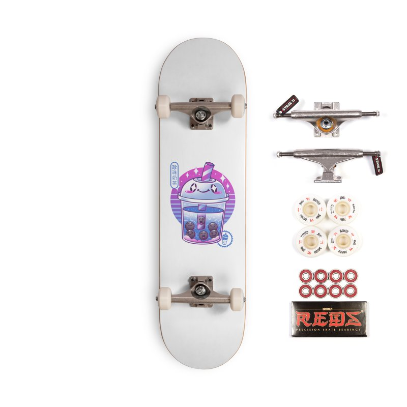 Boba Wave Tea Accessories Complete - Pro Skateboard by Vincent Trinidad Art