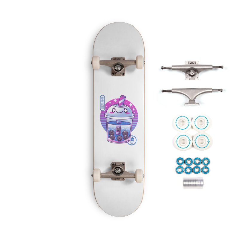 Boba Wave Tea Accessories Complete - Basic Skateboard by Vincent Trinidad Art