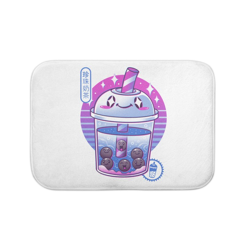 Boba Wave Tea Home Bath Mat by Vincent Trinidad Art