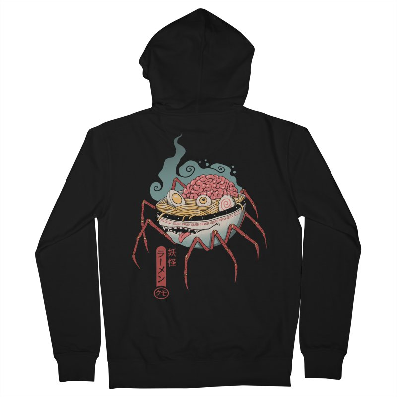 Yokai Ramen Men's French Terry Zip-Up Hoody by Vincent Trinidad Art
