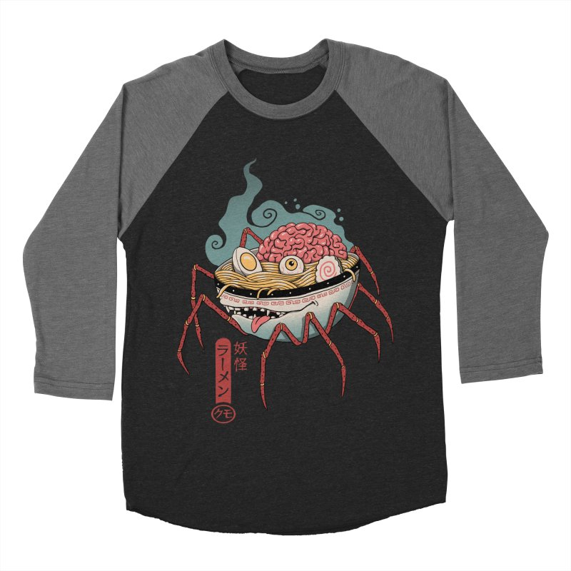 Yokai Ramen Men's Baseball Triblend Longsleeve T-Shirt by Vincent Trinidad Art