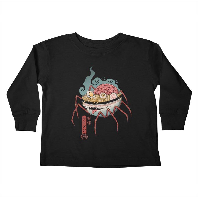 Yokai Ramen Kids Toddler Longsleeve T-Shirt by Vincent Trinidad Art