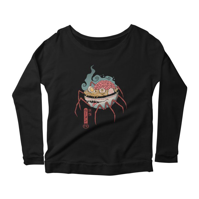 Yokai Ramen Women's Scoop Neck Longsleeve T-Shirt by Vincent Trinidad Art