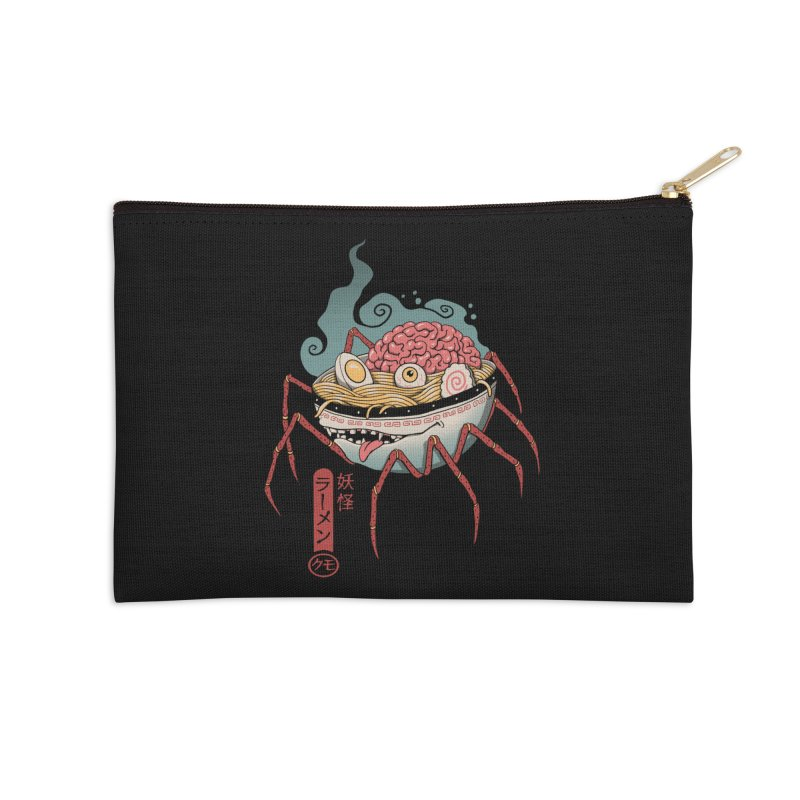 Yokai Ramen Accessories Zip Pouch by Vincent Trinidad Art
