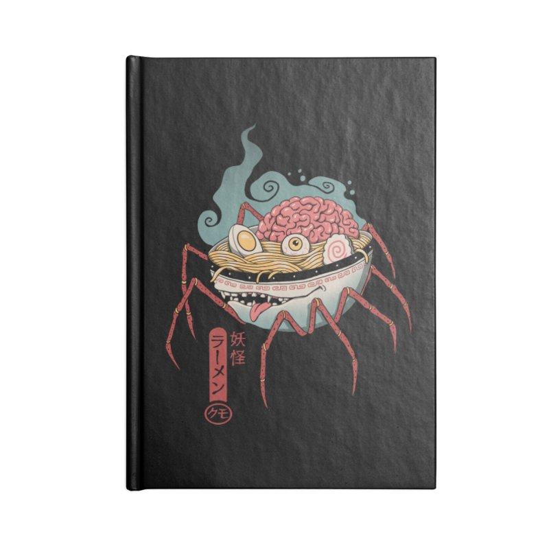 Yokai Ramen Accessories Lined Journal Notebook by Vincent Trinidad Art