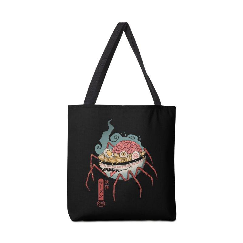 Yokai Ramen Accessories Tote Bag Bag by Vincent Trinidad Art