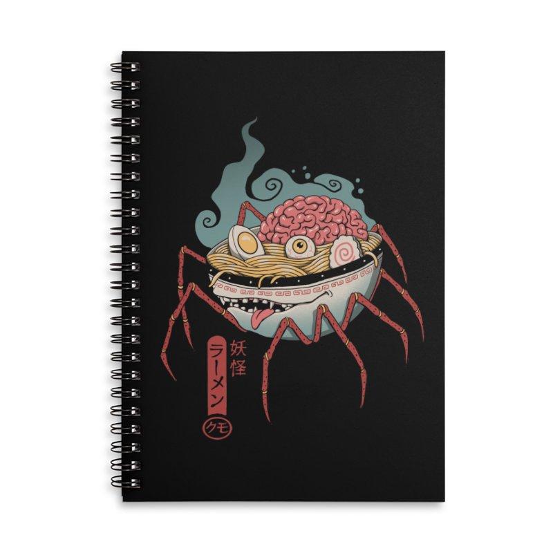 Yokai Ramen Accessories Lined Spiral Notebook by Vincent Trinidad Art