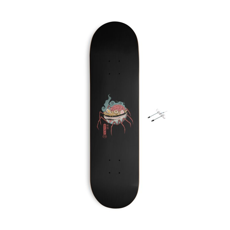Yokai Ramen Accessories With Hanging Hardware Skateboard by Vincent Trinidad Art