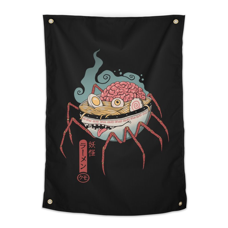 Yokai Ramen Home Tapestry by Vincent Trinidad Art