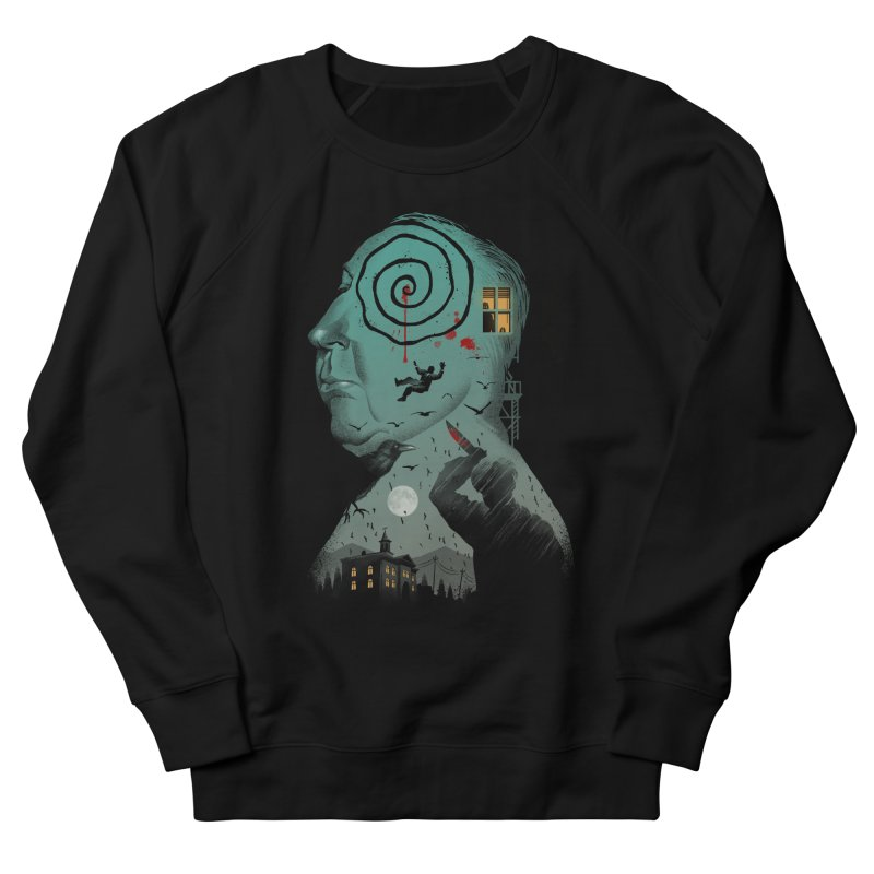 Master of Suspense Men's French Terry Sweatshirt by Vincent Trinidad Art