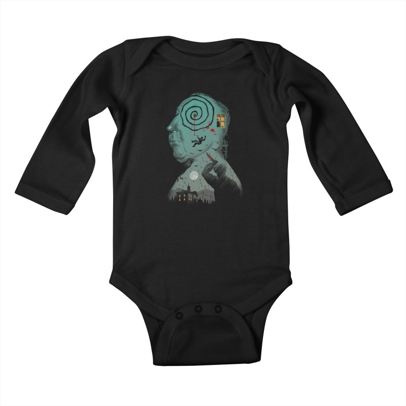 Master of Suspense Kids Baby Longsleeve Bodysuit by Vincent Trinidad Art