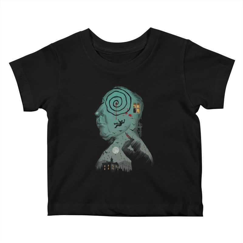 Master of Suspense Kids Baby T-Shirt by Vincent Trinidad Art