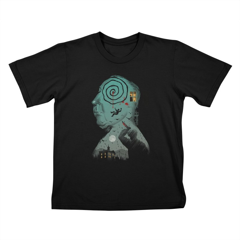 Master of Suspense Kids T-Shirt by Vincent Trinidad Art