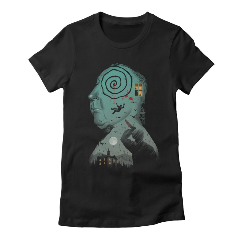 Master of Suspense Women's Fitted T-Shirt by Vincent Trinidad Art