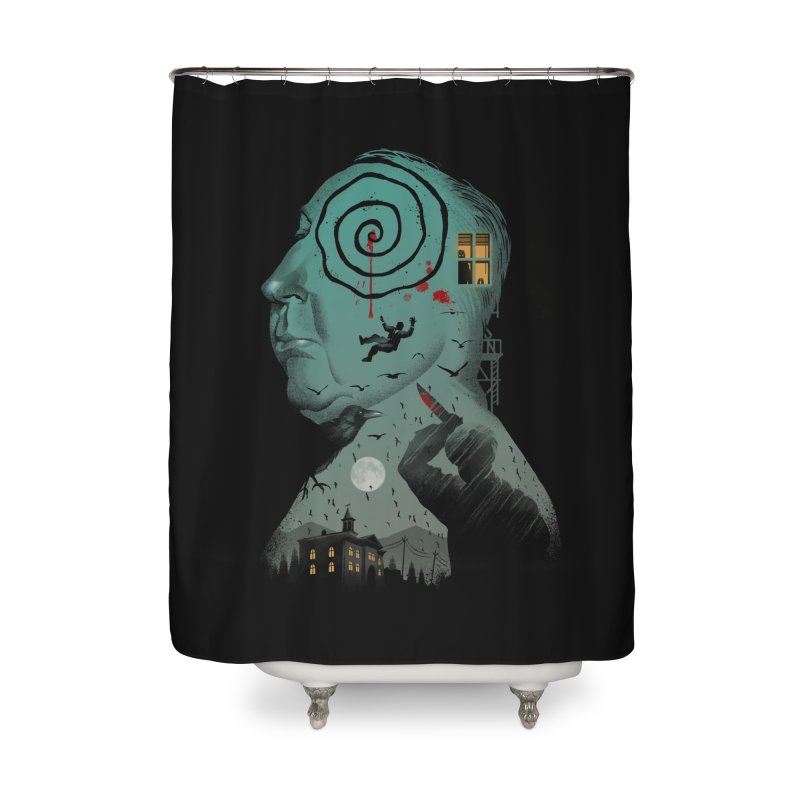 Master of Suspense Home Shower Curtain by Vincent Trinidad Art