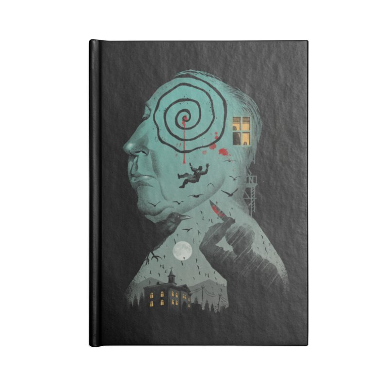 Master of Suspense Accessories Lined Journal Notebook by Vincent Trinidad Art