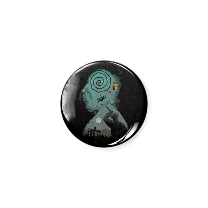 Master of Suspense Accessories Button by Vincent Trinidad Art
