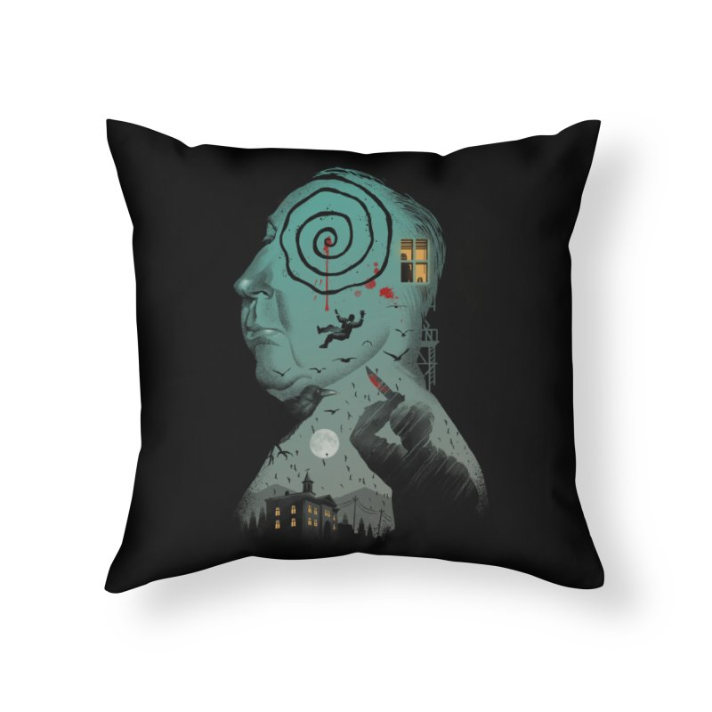 Master of Suspense Home Throw Pillow by Vincent Trinidad Art