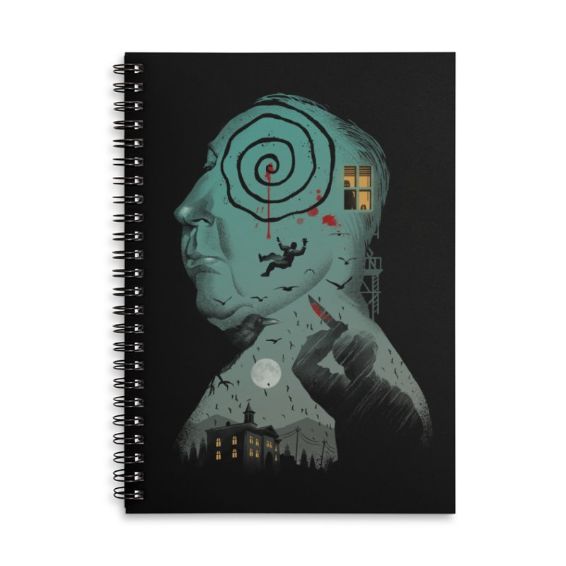Master of Suspense Accessories Lined Spiral Notebook by Vincent Trinidad Art