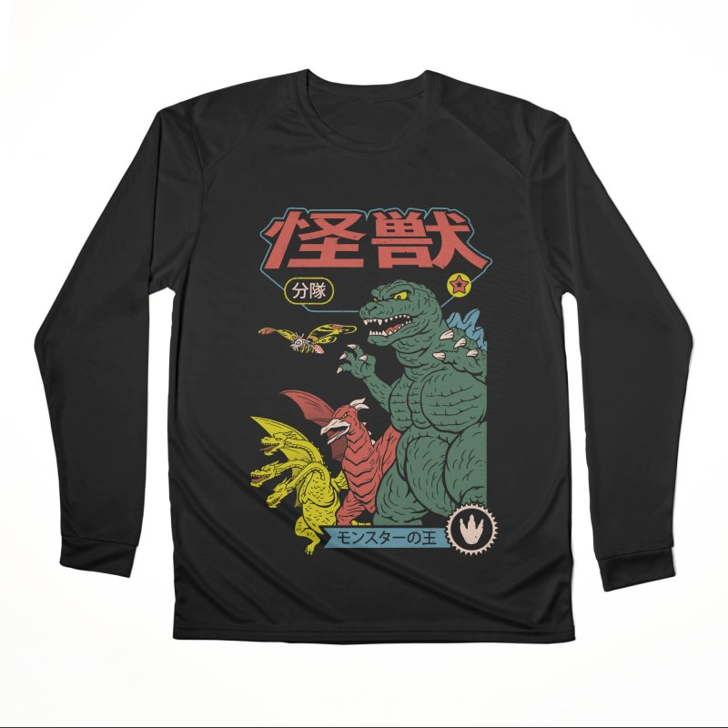 Kaiju Sentai Men's Performance Longsleeve T-Shirt by Vincent Trinidad Art
