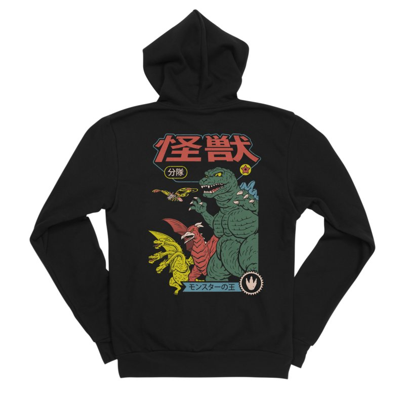 Kaiju Sentai Men's Sponge Fleece Zip-Up Hoody by Vincent Trinidad Art