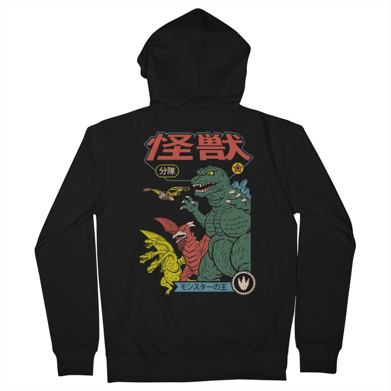 Kaiju Sentai Men's French Terry Zip-Up Hoody by Vincent Trinidad Art