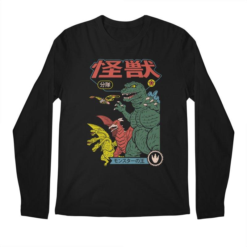 Kaiju Sentai Men's Regular Longsleeve T-Shirt by Vincent Trinidad Art