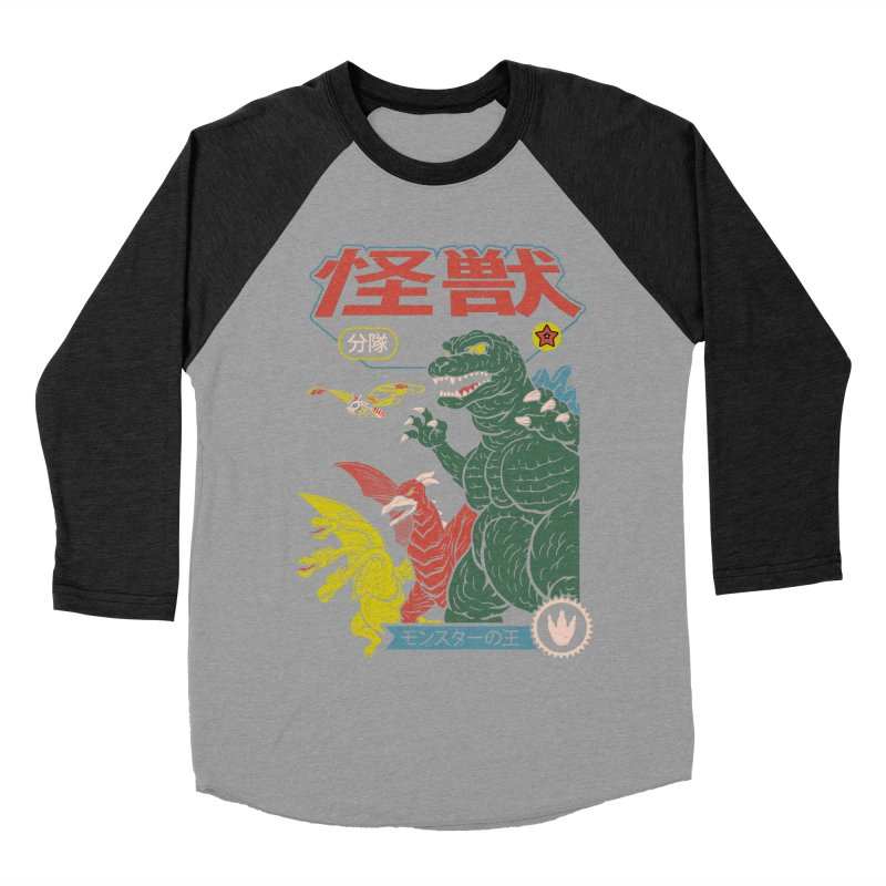 Kaiju Sentai Men's Baseball Triblend Longsleeve T-Shirt by Vincent Trinidad Art
