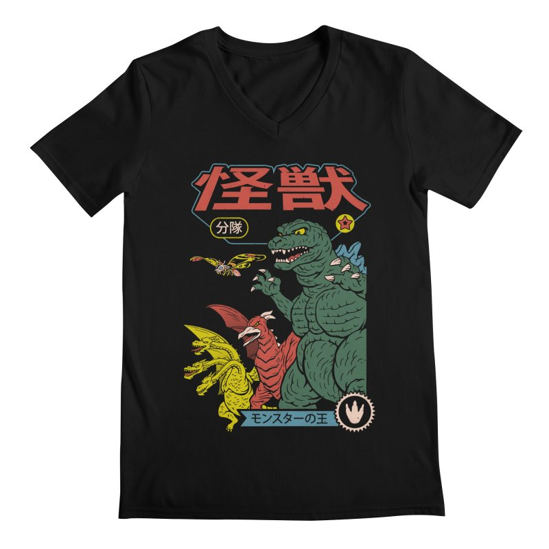 Kaiju Sentai Men's Regular V-Neck by Vincent Trinidad Art