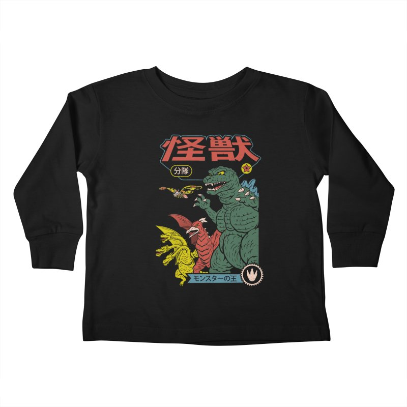 Kaiju Sentai Kids Toddler Longsleeve T-Shirt by Vincent Trinidad Art