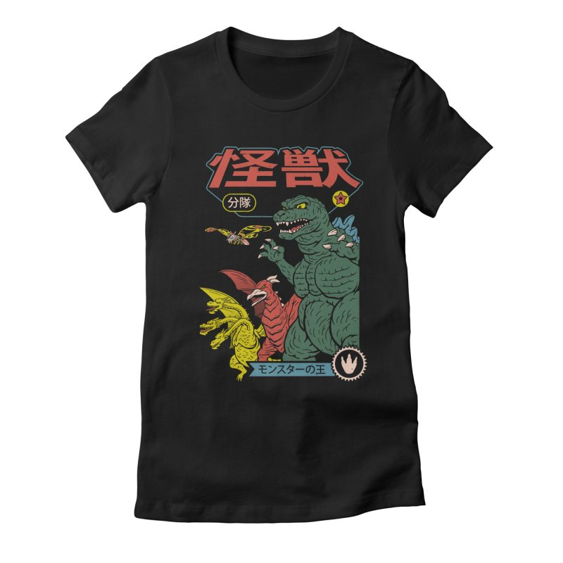 Kaiju Sentai Women's Fitted T-Shirt by Vincent Trinidad Art