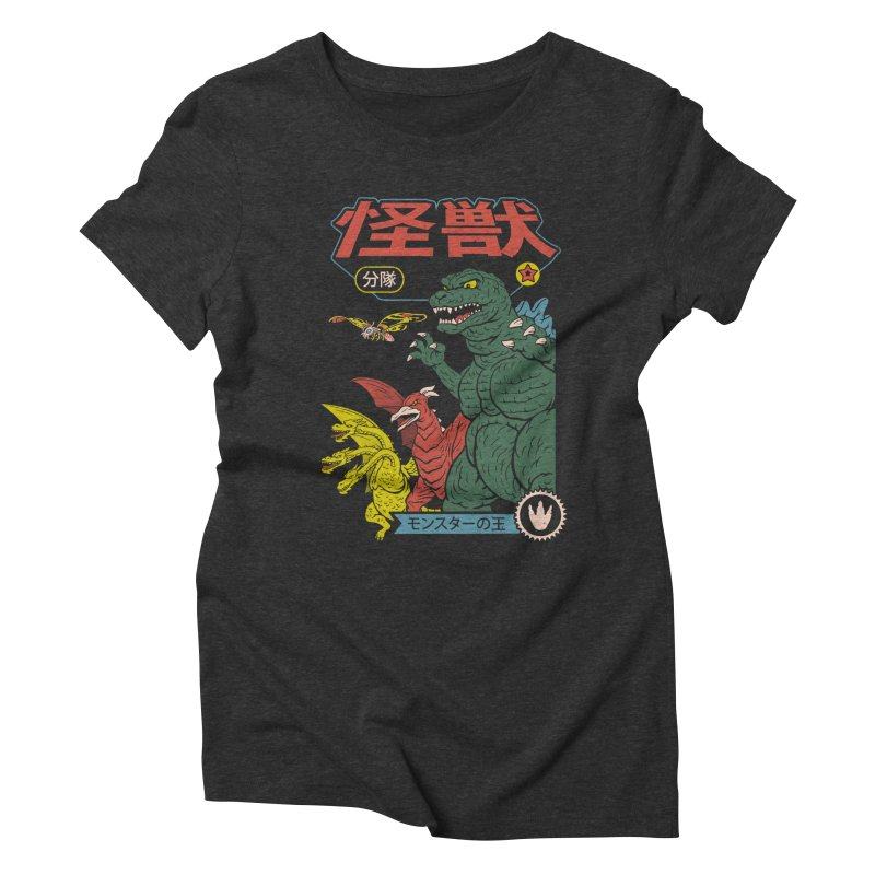 Kaiju Sentai Women's Triblend T-Shirt by Vincent Trinidad Art