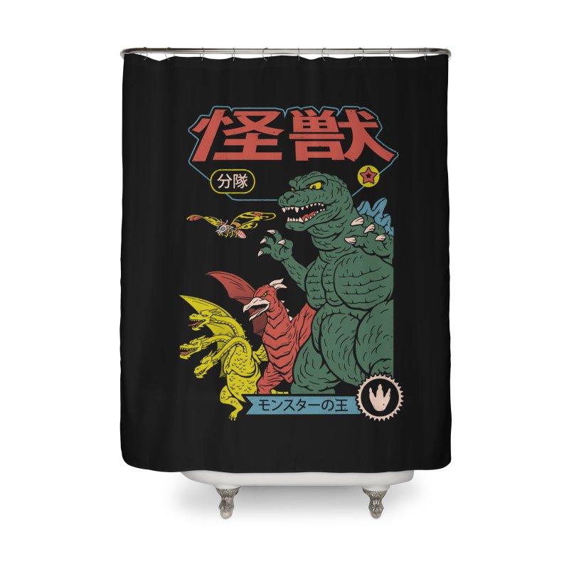 Kaiju Sentai Home Shower Curtain by Vincent Trinidad Art