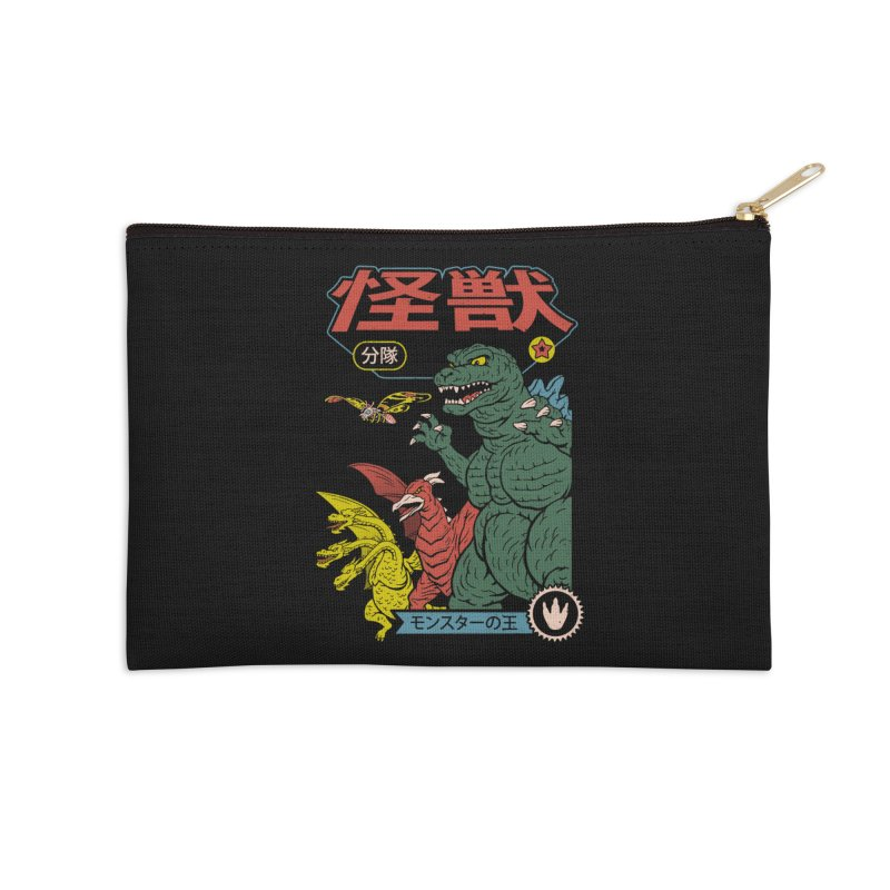 Kaiju Sentai Accessories Zip Pouch by Vincent Trinidad Art