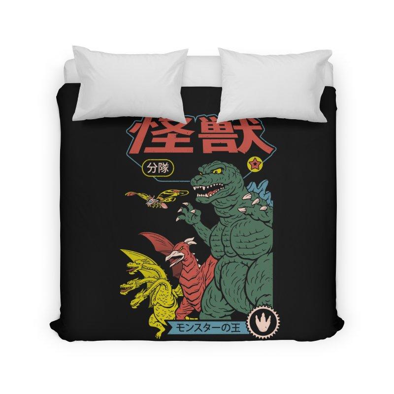 Kaiju Sentai Home Duvet by Vincent Trinidad Art