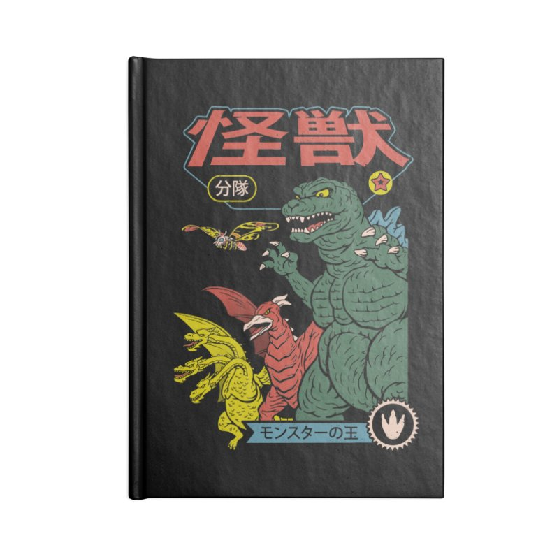 Kaiju Sentai Accessories Blank Journal Notebook by Vincent Trinidad Art