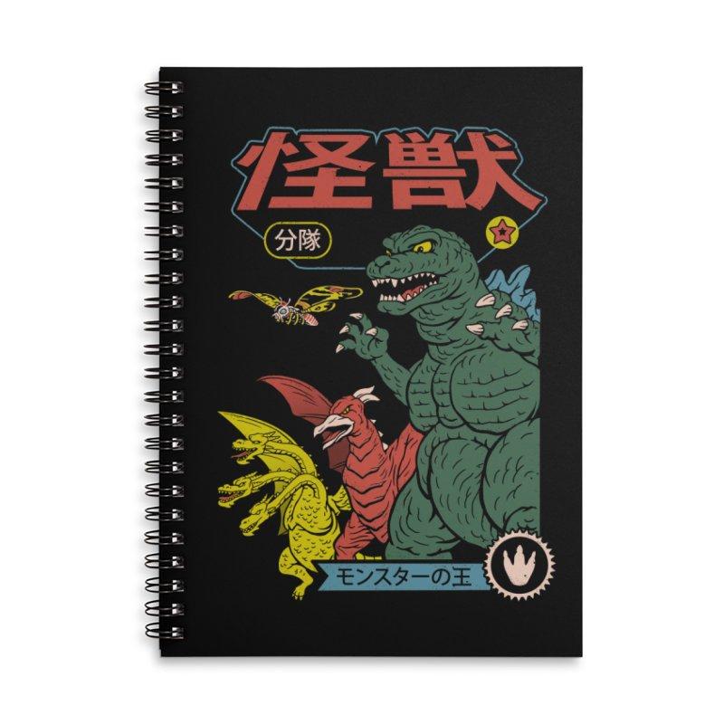 Kaiju Sentai Accessories Lined Spiral Notebook by Vincent Trinidad Art