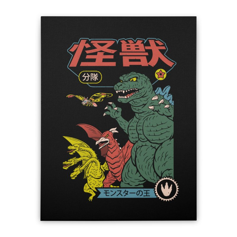 Kaiju Sentai Home Stretched Canvas by Vincent Trinidad Art