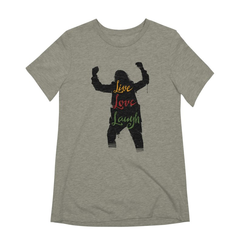 Live Love Laugh Women's Extra Soft T-Shirt by Vincent Trinidad Art