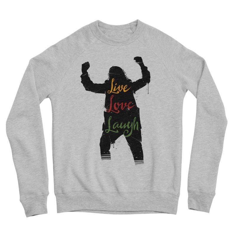 Live Love Laugh Men's Sponge Fleece Sweatshirt by Vincent Trinidad Art