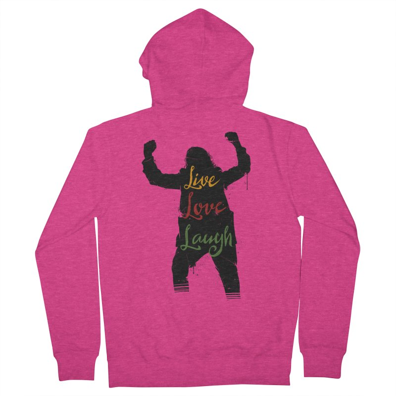 Live Love Laugh Women's French Terry Zip-Up Hoody by Vincent Trinidad Art