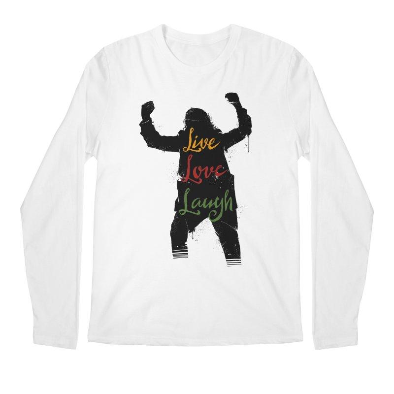 Live Love Laugh Men's Regular Longsleeve T-Shirt by Vincent Trinidad Art