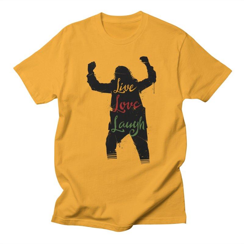 Live Love Laugh Men's Regular T-Shirt by Vincent Trinidad Art