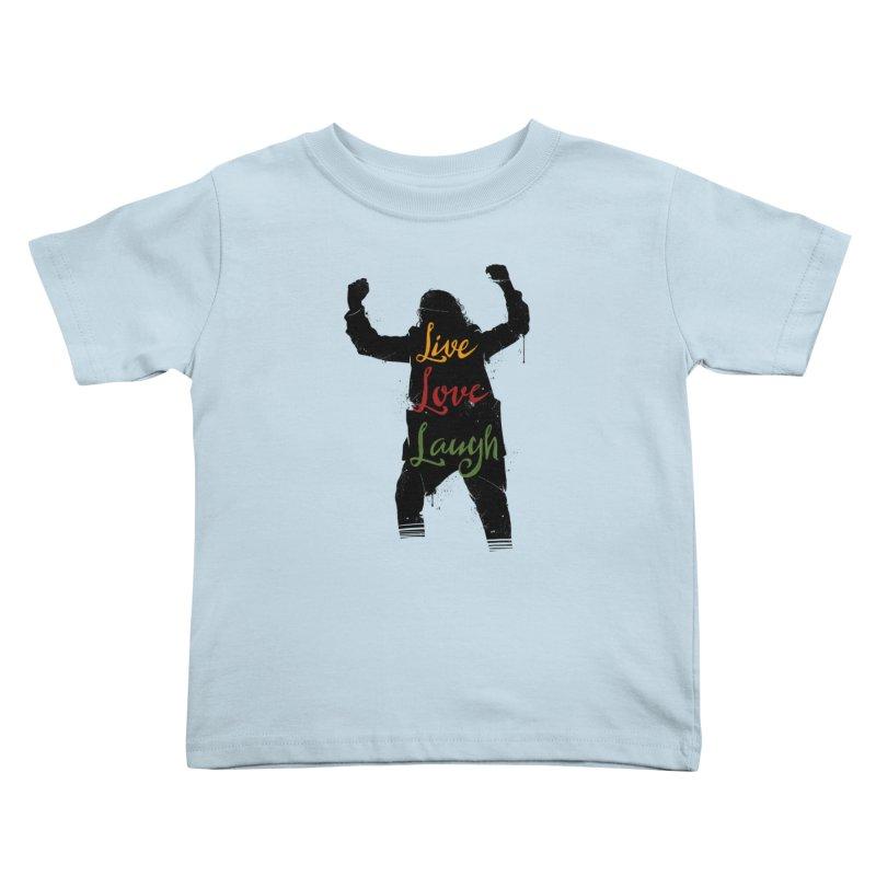 Live Love Laugh Kids Toddler T-Shirt by Vincent Trinidad Art