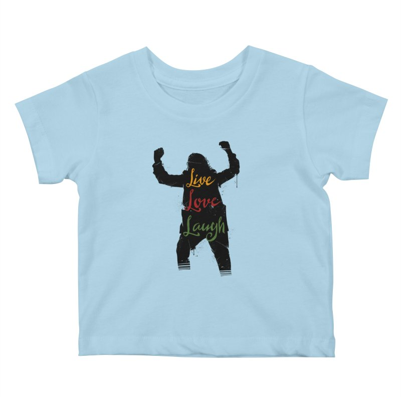 Live Love Laugh Kids Baby T-Shirt by Vincent Trinidad Art