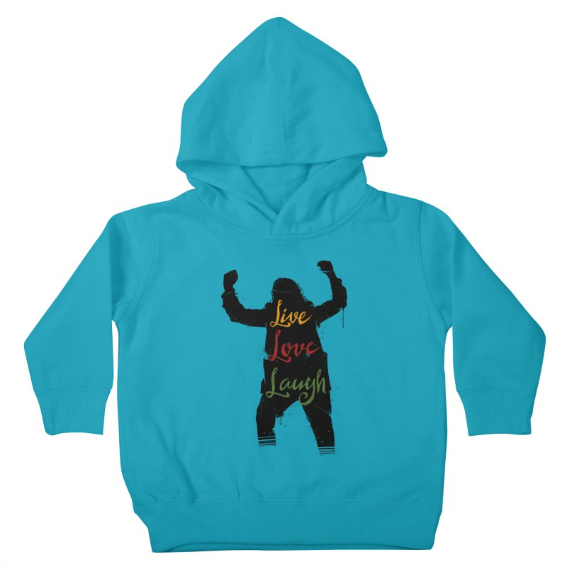 Live Love Laugh Kids Toddler Pullover Hoody by Vincent Trinidad Art