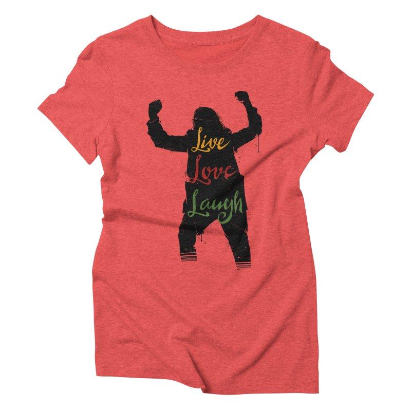 Live Love Laugh Women's Triblend T-Shirt by Vincent Trinidad Art
