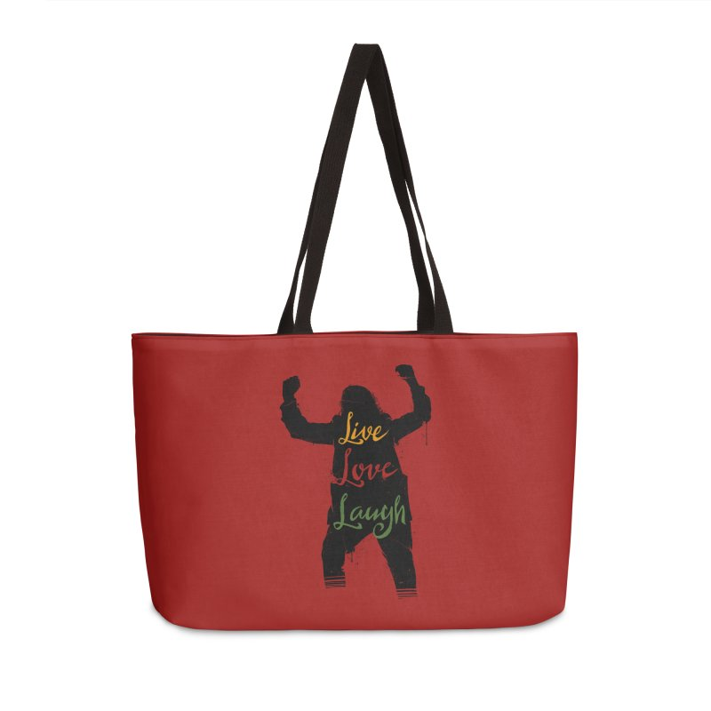 Live Love Laugh Accessories Weekender Bag Bag by Vincent Trinidad Art